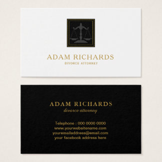 Gold and Black Law Business Card Template