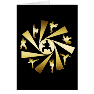 GOLD AND BLACK MARTIAL ARTS CARD
