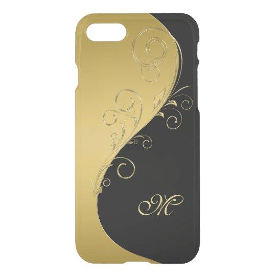 Gold and Black Monogram iPhone 7 Case