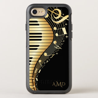 Gold And Black Music Keys OtterBox Symmetry iPhone 8/7 Case