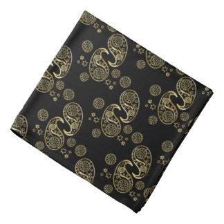 Gold and Black Paisley Design Bandana