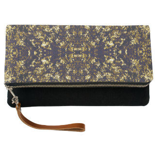 Gold and black pattern clutch