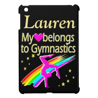 GOLD AND BLACK PERSONALIZED GYMNAST IPAD CASE