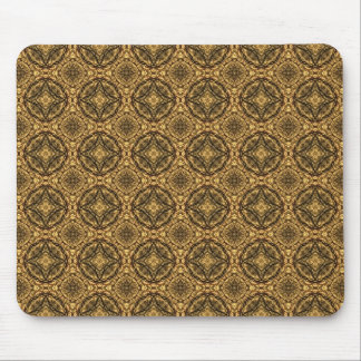 Gold and Black Repeating Pattern Mouse Pad