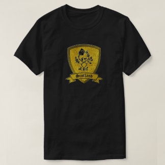 Gold and Black Rose and Thistle T-Shirt