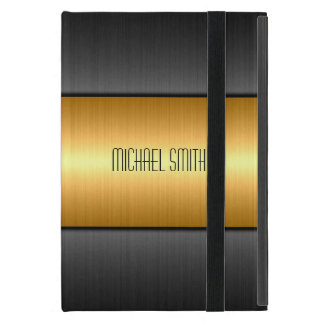 Gold and Black Stainless Steel Metal iPad Mini Cases