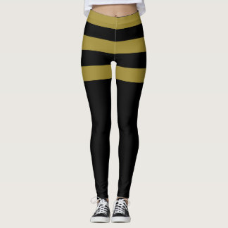 Gold and Black Stipes Leggings