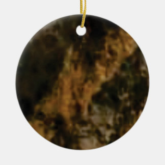 gold and black stone ceramic ornament
