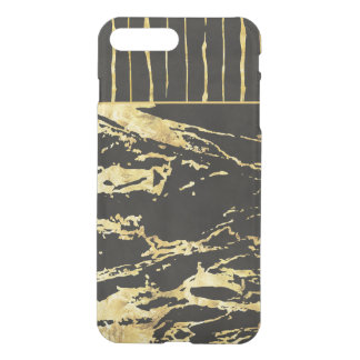 Gold and Black Stripes and Rock Pattern iPhone 8 Plus/7 Plus Case