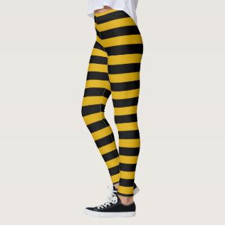 Gold and Black Stripes Leggings
