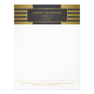 Gold and black stripes letterhead