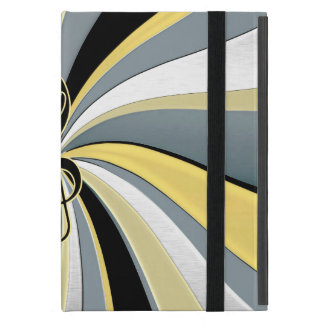 Gold and Black Swirl Musical Clef iPad Air Cover