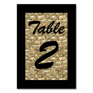 Gold and Black Table Card