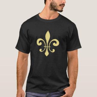 Gold and Black  Washout Fleur De Lis T-Shirt