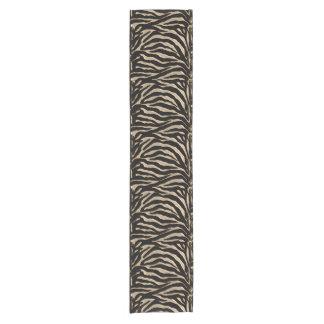 Gold and Black Zebra Striped Festive Table Runner