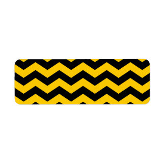 Gold and Black Zigzag