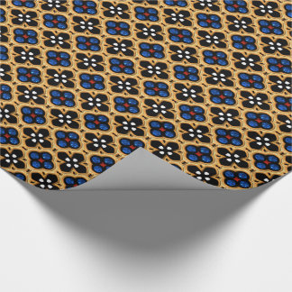 Gold and Blue Holiday Bling Wrapping Paper