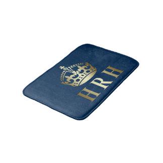 Gold And Blue HRH Royal Crown Bath Mat
