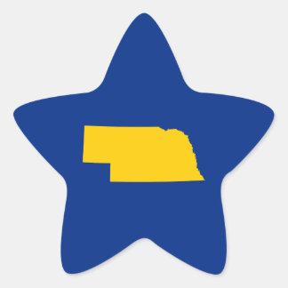 Gold and Blue Nebraska Star Sticker