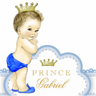 Gold and Blue Prince Baby Boy Acrylic Cut Out