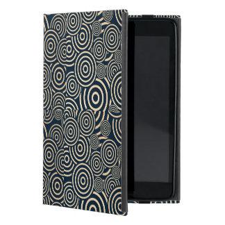 Gold and blue swirls iPad mini cover