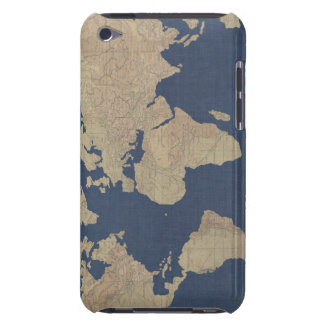 Gold and Blue World Map Barely There iPod Cases