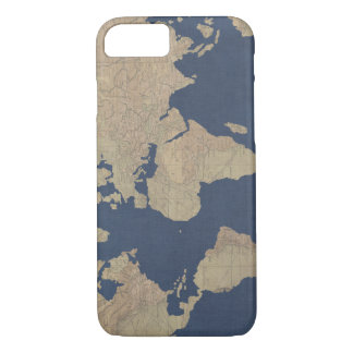 Gold and Blue World Map iPhone 8/7 Case