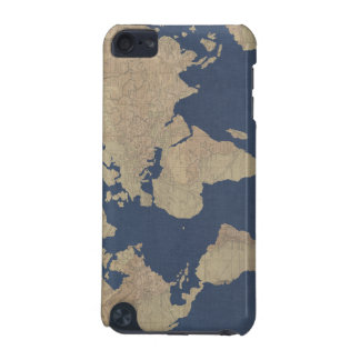 Gold and Blue World Map iPod Touch (5th Generation) Cases