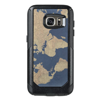 Gold and Blue World Map OtterBox Samsung Galaxy S7 Case