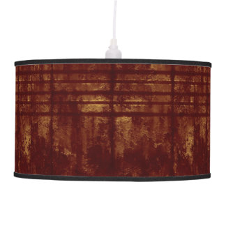 Gold and Burgundy Grungy Lines and Splashes Hanging Pendant Lamps