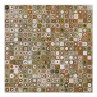 Gold and Copper Mosaic Poster
