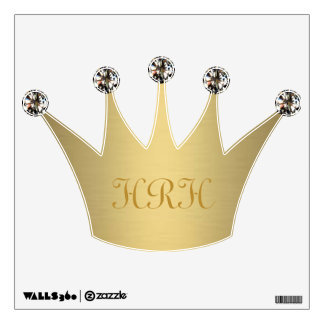 Gold and Diamond Crown Wall Sticker