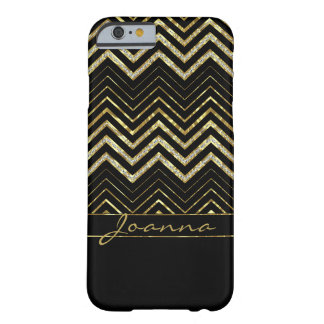 Gold And Diamonds Chevron Barely There iPhone 6 Case