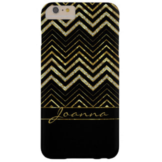 Gold And Diamonds Chevron Pattern Barely There iPhone 6 Plus Case