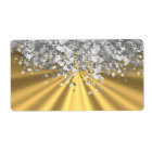 Gold and faux glitter personalized
