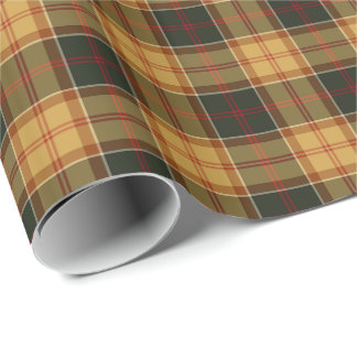 Gold and Forest Green Rustic Plaid Pattern
