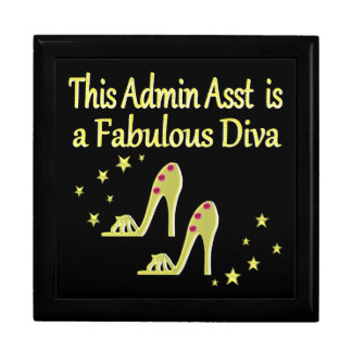 GOLD AND GLITZY ADMIN ASST SHOE LOVER DESIGN GIFT BOX