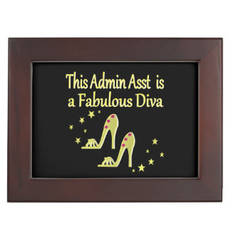 GOLD AND GLITZY ADMIN ASST SHOE LOVER DESIGN MEMORY BOX