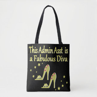 GOLD AND GLITZY ADMIN ASST SHOE LOVER DESIGN TOTE BAG