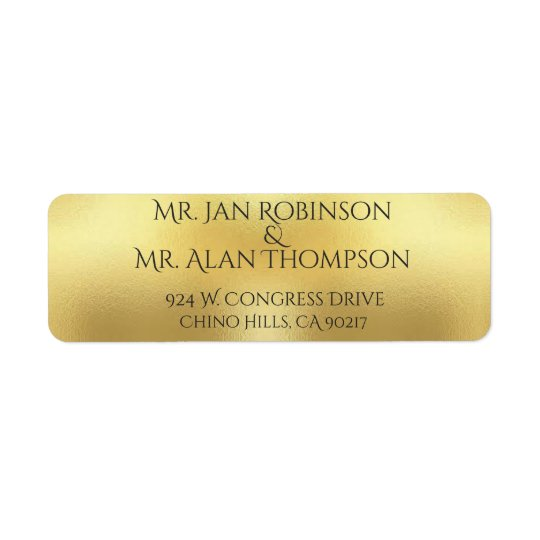 """""""GOLD AND GRAY"""" Return Address Labels"""