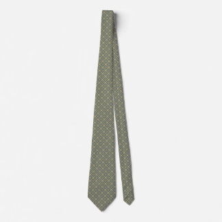 Gold-and-Gray-Teal Patterned Tie