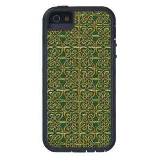 Gold And Green Connected Ovals Celtic Pattern iPhone 5/5S Case