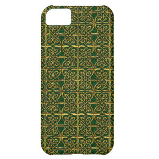 Gold And Green Connected Ovals Celtic Pattern iPhone 5C Cover