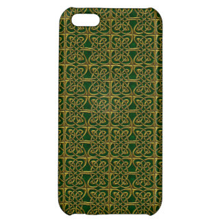 Gold And Green Connected Ovals Celtic Pattern iPhone 5C Case