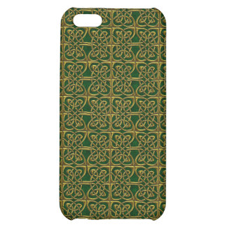 Gold And Green Connected Ovals Celtic Pattern iPhone 5C Cases