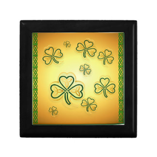 Gold and Green Shamrocks-2 Gift Boxes