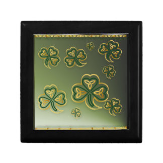 Gold and Green Shamrocks  Gift Boxes