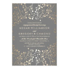 Gold and Grey Baby's Breath Engagement Party Card