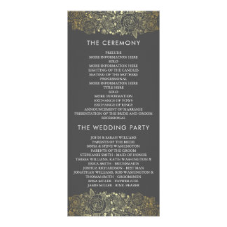 Gold and Grey | Chic Floral Wedding Program