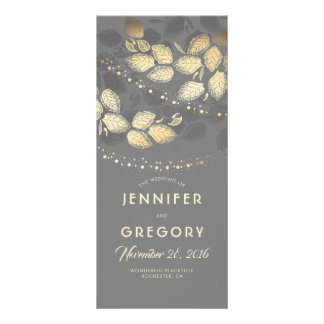 Gold and Grey Woodland Night Wedding Programs